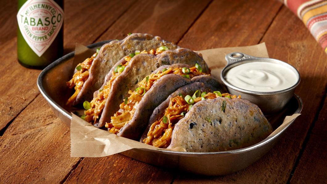 Blue Cornmeal Tacos