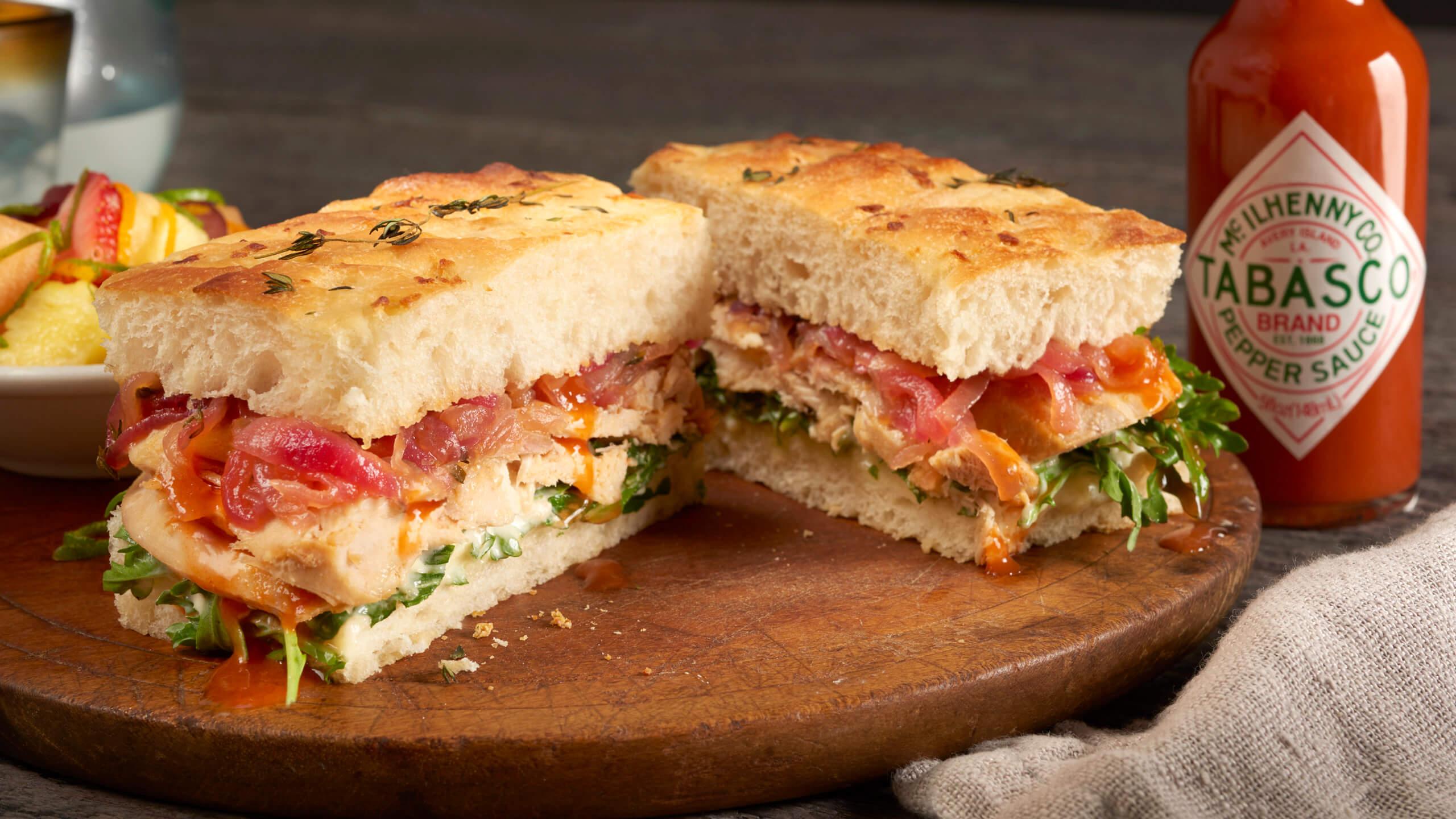 Rotisserie Chicken Focaccia Sandwich