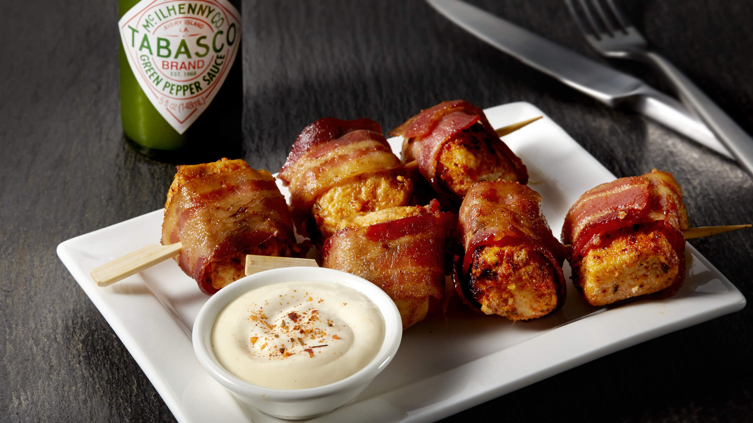 Bacon-Wrapped Rotisserie Skewers