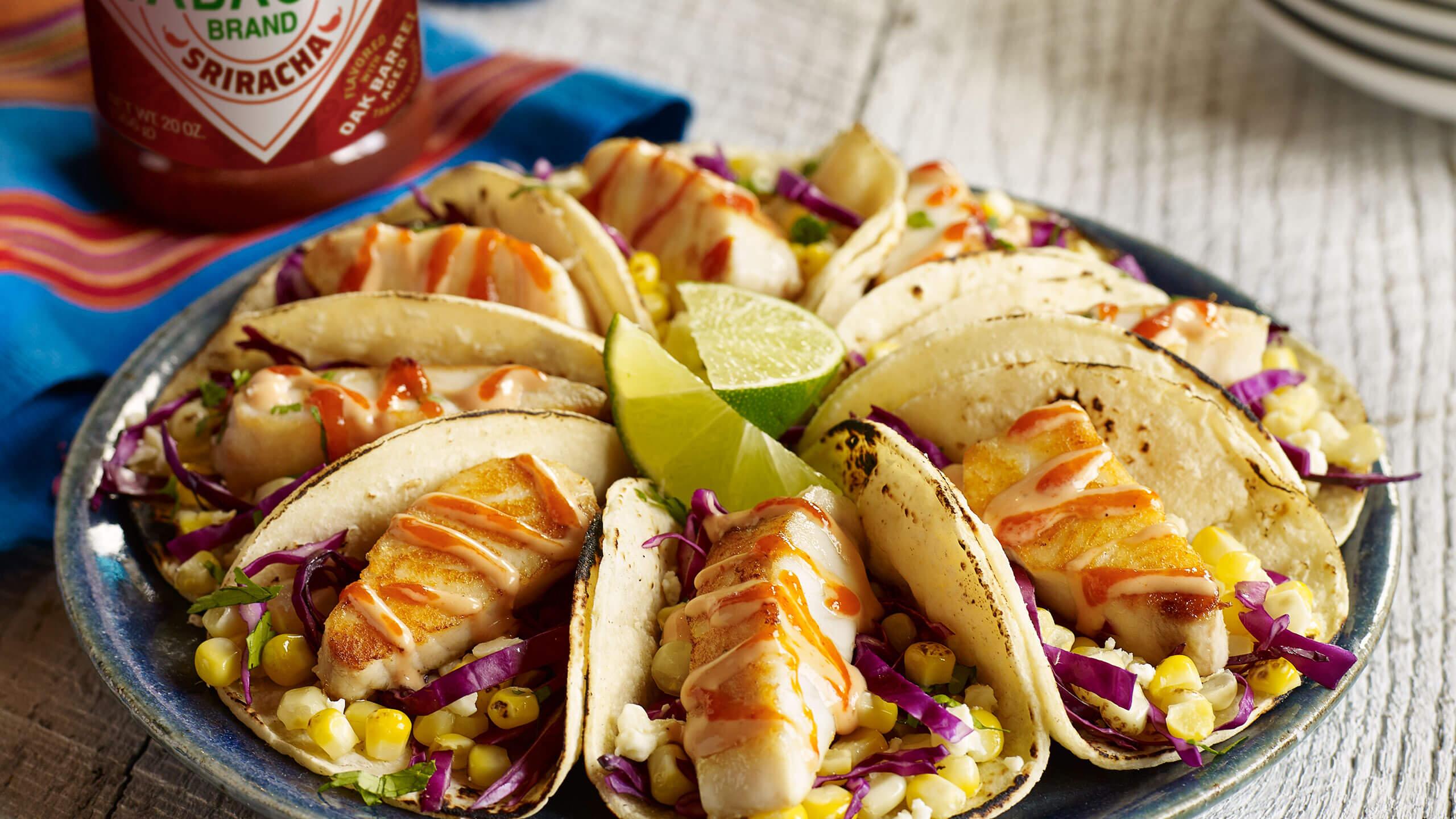 Slammin' Sriracha-Lime Tilapia Taco