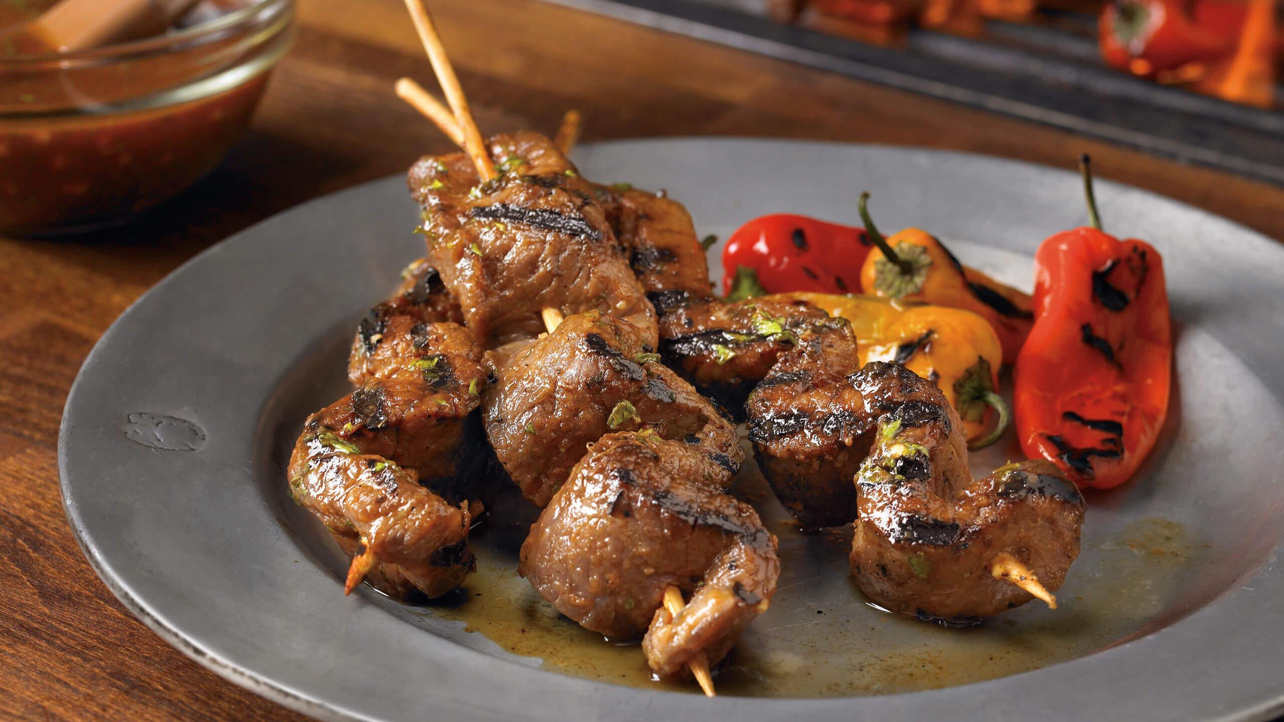 Tamarind Marinated Beef Skewers