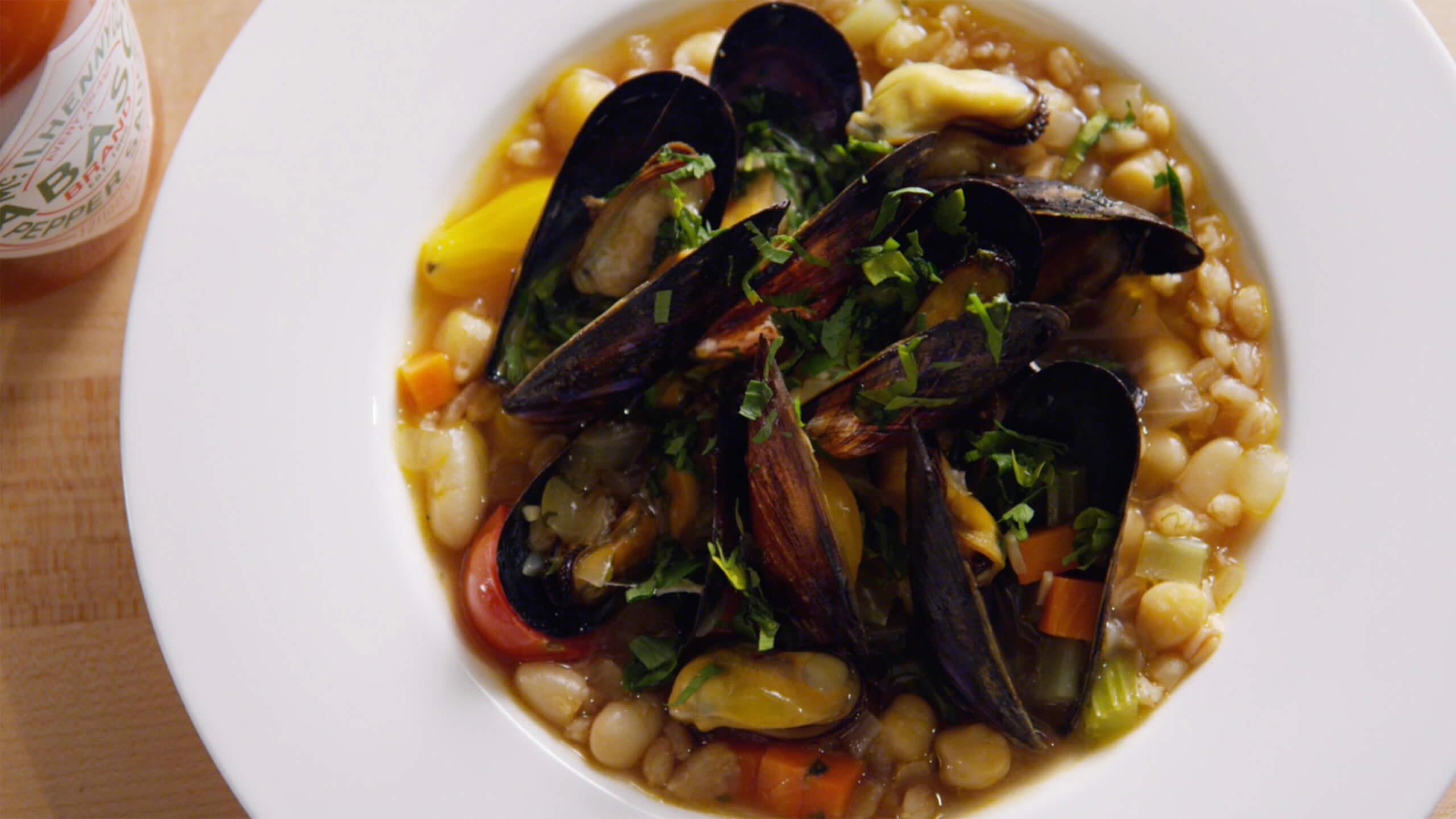 Farro & Mussel Stew