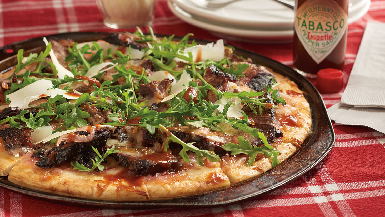 Burnt Ends & Chipotle Onion Jam Pizza