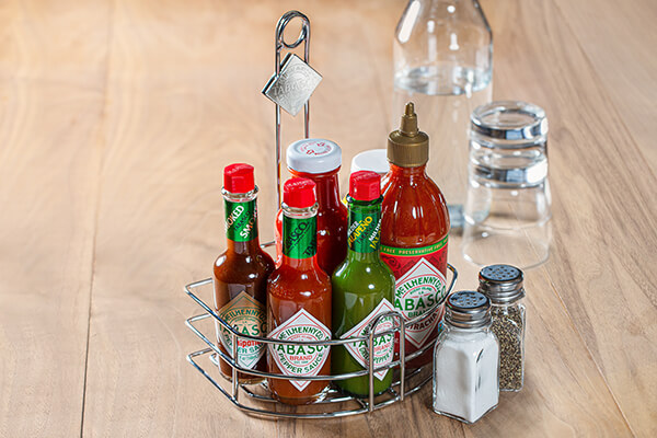 Condiment caddies with flavor appeal
