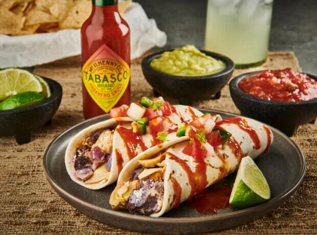 Artichoke Enchiladas with TABASCO Habanero Sauce