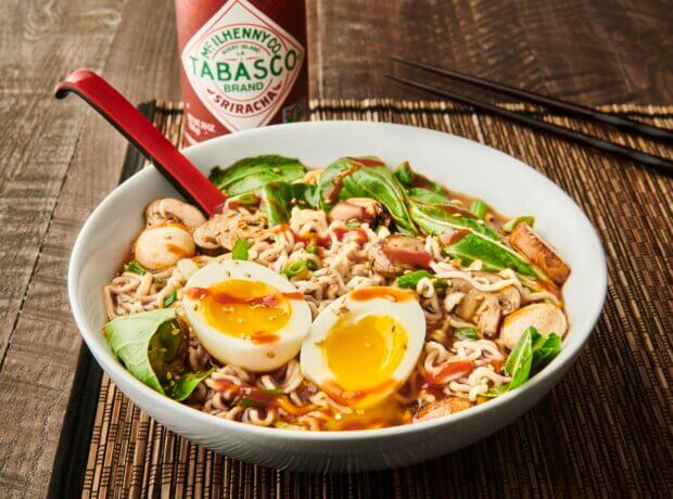 Sri-Ramen Noodle Bowl with TABASCO Sriracha Sauce